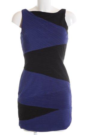 Miss Me Etuikleid blau-schwarz Casual-Look