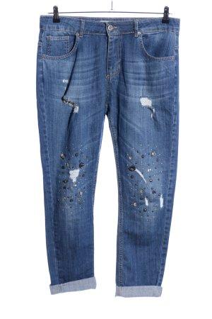 miss miss Jeans boyfriend bleu style décontracté