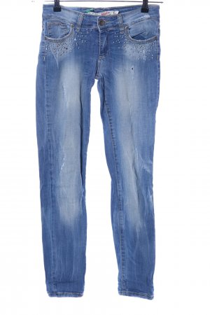Miss Miss by Valentina Slim Jeans blau Casual-Look