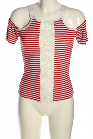 miss miss Ringelshirt rot-weiß Streifenmuster Casual-Look