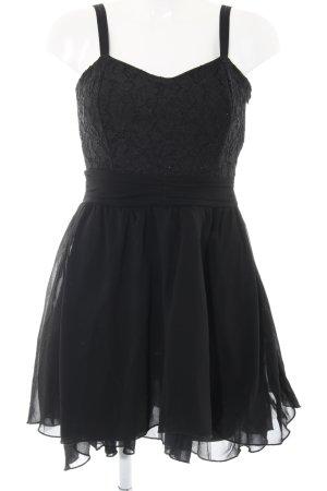 miss miss Trägerkleid schwarz Elegant