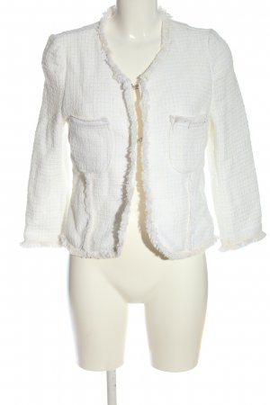 miss miss Tweed Blazer white-natural white check pattern casual look