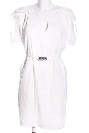 Miss Money Money A-Linien Kleid weiß Elegant