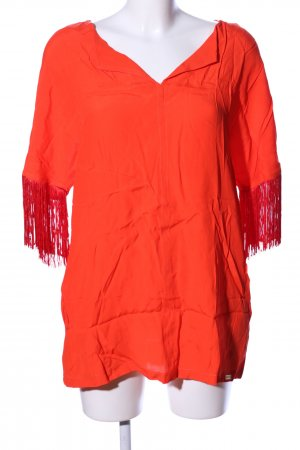 Miss Money Money Kurzarm-Bluse rot Casual-Look