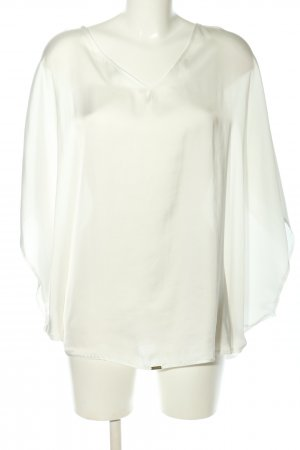 Miss Money Money Blusa ancha blanco-color oro look casual