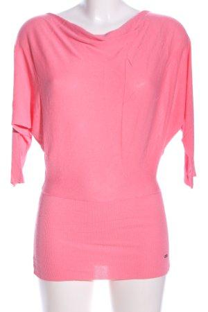 Miss Money Money Rundhalspullover pink Business-Look
