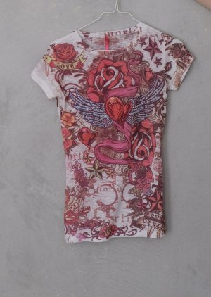 MISS PINKY T Shirt mit rosa Muster