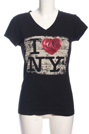 Miss Posh T-Shirt schwarz Motivdruck Casual-Look