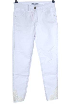 Miss RJ Jeans a vita alta bianco stile casual