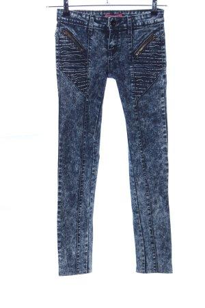 Miss RJ Skinny Jeans blau-weiß Casual-Look