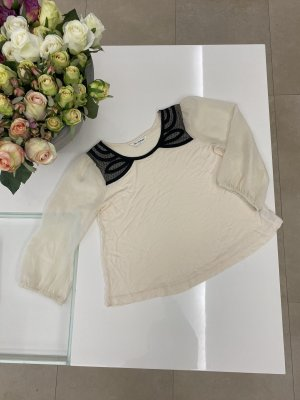 Miss Selfridge 3/4 Arm Bluse in Creme schwarz in 36 / 8 / S
