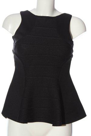 Miss Selfridge ärmellose Bluse schwarz Casual-Look