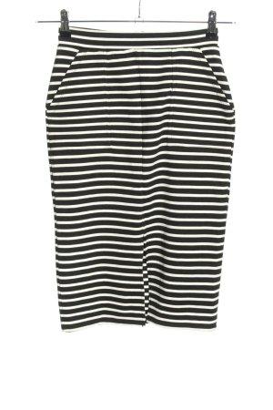 Miss Selfridge Bleistiftrock schwarz-weiß Streifenmuster Casual-Look