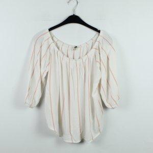 MISS SELFRIDGE Bluse Gr. 42 weiß orange gestreift (20/01/087)