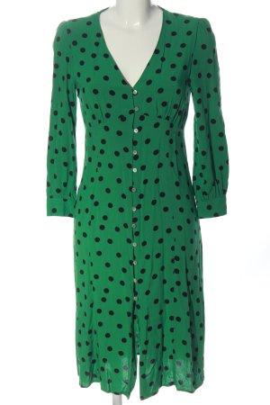 Miss Selfridge Robe chemisier vert-noir motif de tache style décontracté