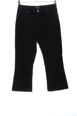 Miss Selfridge Corduroy broek zwart casual uitstraling