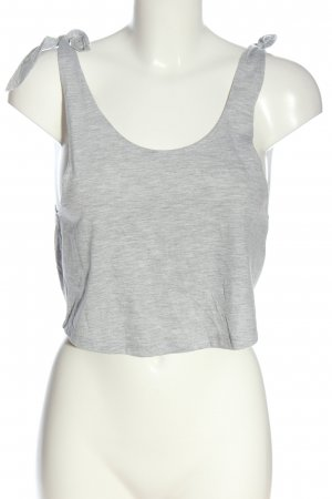 Miss Selfridge Cropped Top hellgrau meliert Casual-Look
