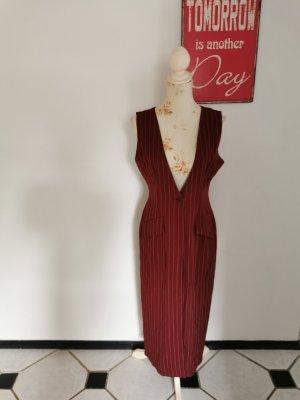 Miss Selfridge Long Knitted Vest dark red-white