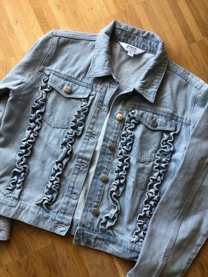 Miss Selfridge Veste en jean bleu azur-bleuet