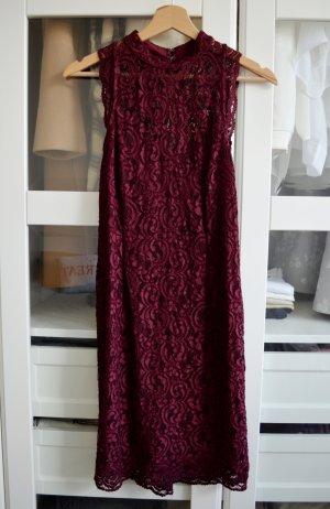 Miss Selfridge Sheath Dress bordeaux nylon