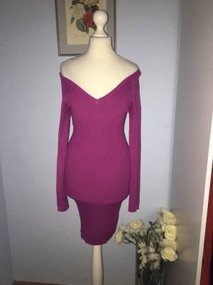 Miss Selfridge Vestido de manga larga rosa-púrpura Viscosa