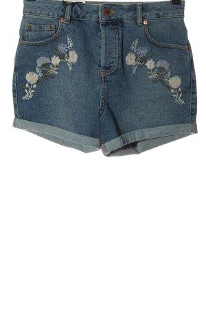 Miss Selfridge Pantalón corto de tela vaquera azul look casual