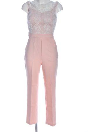 Miss Selfridge Jumpsuit pink-weiß Casual-Look