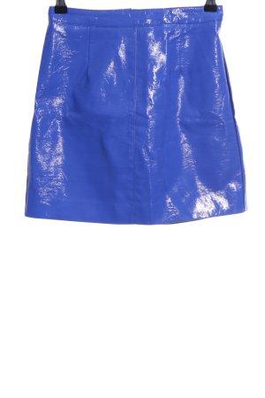 Miss Selfridge Rok van imitatieleder blauw casual uitstraling