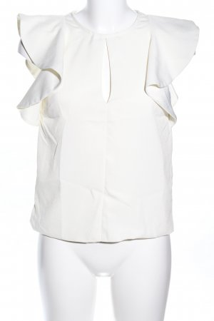 Miss Selfridge Kurzarm-Bluse creme Casual-Look