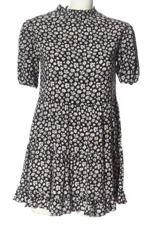Miss Selfridge Robe à manches courtes noir-blanc imprimé allover