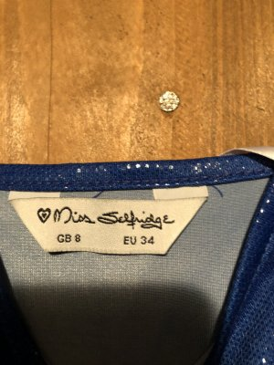 Miss Selfridge Robe à bretelles bleuet-argenté