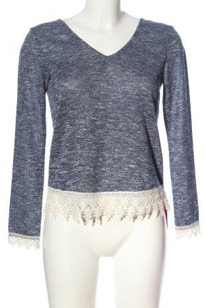 Miss Selfridge Langarm-Bluse blau meliert Casual-Look