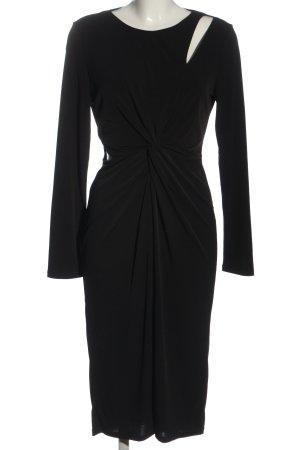 Miss Selfridge Vestido de manga larga negro elegante