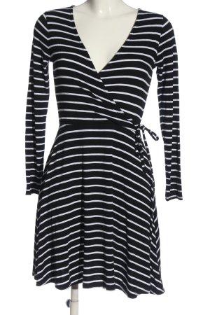 Miss Selfridge Sukienka z długim rękawem czarny-biały Wzór w paski