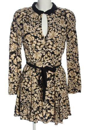 Miss Selfridge Robe à manches longues blanc cassé-noir imprimé allover