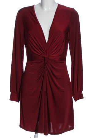 Miss Selfridge Robe à manches longues rouge style décontracté