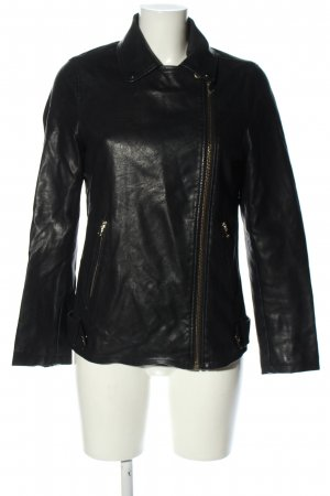 Miss Selfridge Kunstlederjacke schwarz Casual-Look