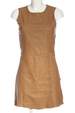 Miss Selfridge Leather Dress brown casual look