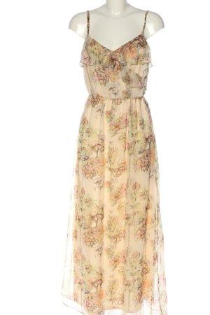 Miss Selfridge Maxi abito crema stampa integrale elegante