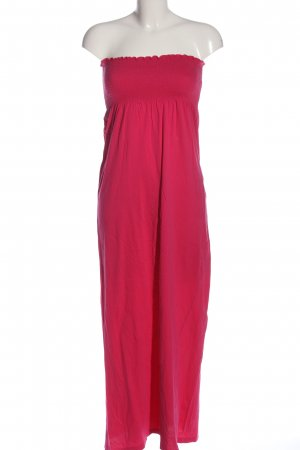Miss Selfridge Vestido bandeau rosa look casual