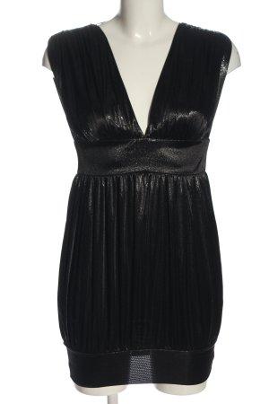 Miss Selfridge Mini vestido negro moteado look efecto mojado