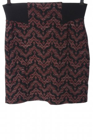 Miss Selfridge Miniskirt black-red allover print casual look