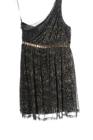 Miss Selfridge One Shoulder Dress black leopard pattern elegant