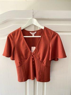 Miss Selfridge Kimono blouse roodbruin