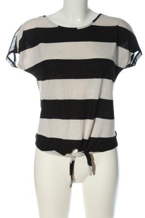 Miss Selfridge Stripe Shirt black-natural white striped pattern casual look