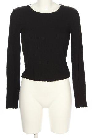 Miss Selfridge Camisa acanalada negro look casual