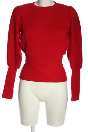 Miss Selfridge Sweter z okrągłym dekoltem czerwony W stylu casual