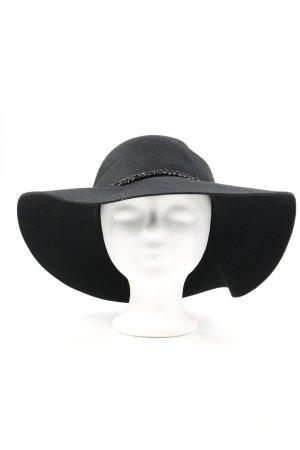 Miss Selfridge Miękki kapelusz z szerokim opuszczonym rondem czarny Elegancki