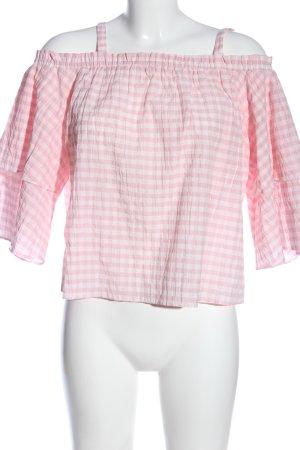 Miss Selfridge Schlupf-Bluse pink-weiß Allover-Druck Casual-Look