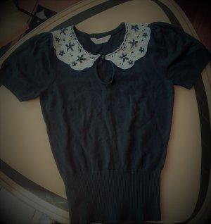 Miss Selfridge schwarz Kurz arm Pullover